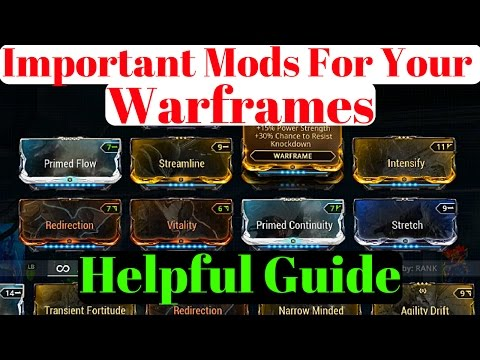 Warframe | Important Mods for your Warframes