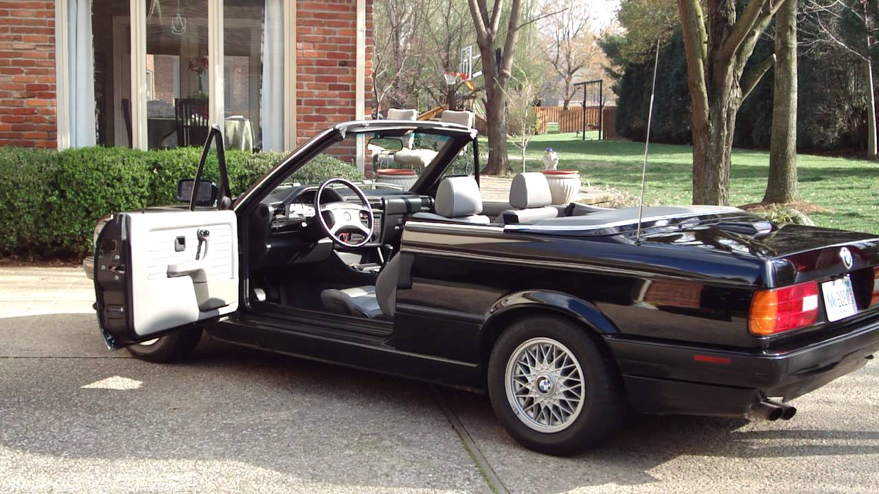 small resolution of 1993 bmw e30 convertible top auto manual up and down operation