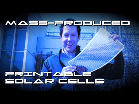 Mass Produced Printable Solar Cells - BTF