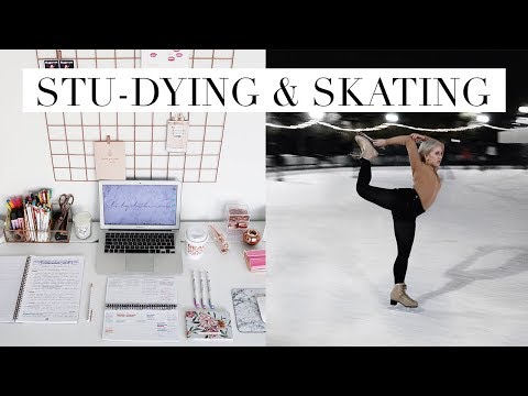 STU-DYING & FIGURE SKATING SEASON | DC Diaries #9