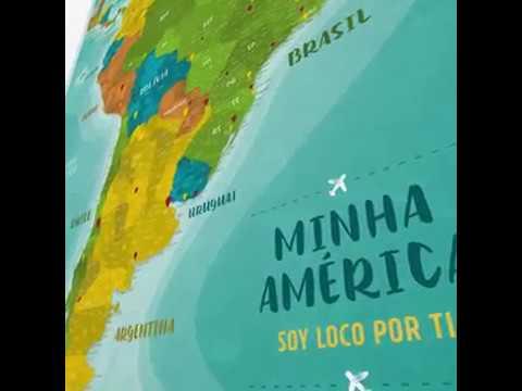 2a1585e39de Viagema - Pôster Mapa América do Sul e América Central + 220 Pins Adesivos  p  Marcar suas Viagens