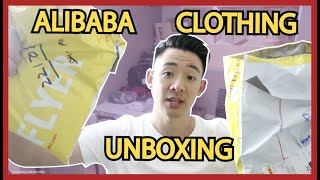 Alibaba Unboxing Clothing T Shirt Garments