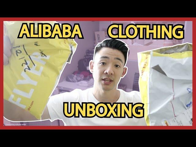Alibaba Unboxing Clothing T Shirt Garments