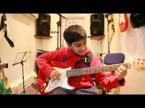 11 year old Arjun's guitar cover of Radio by The Blackout