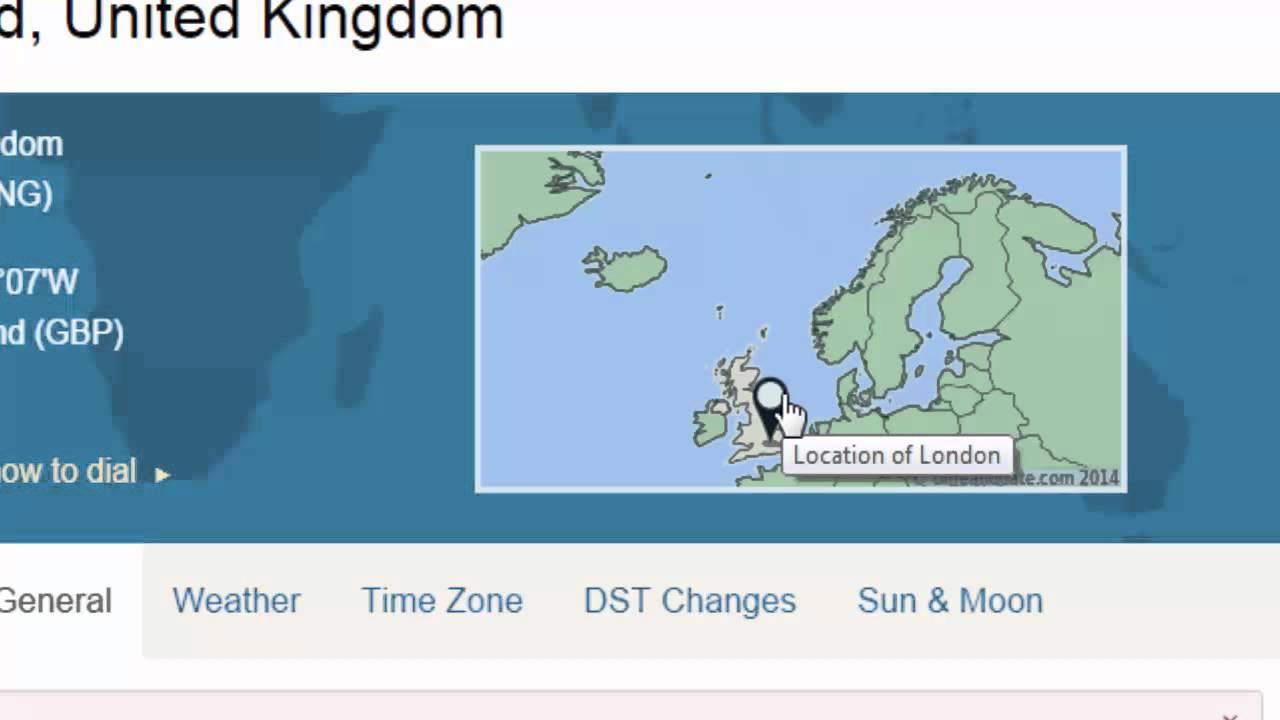 london time zone