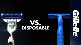 Gillette MACH3 vs. A Disposable Razor   Gillette UK