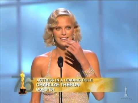 Charlize Theron winning Best Actress for 'Monster'