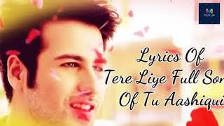 Tere liye -tu aashiqui ||full song ||romantic song||m music lab||love ||cute