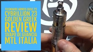 TILEMAHOS ARMED EAGLE 23 + CYBRILLION V2 23 - GOLDEN GREEK - REVIEW