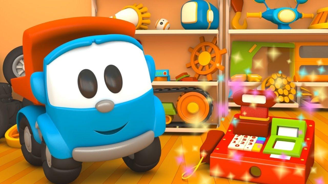 Cartoni animati per bambini camioncino leo junior e i