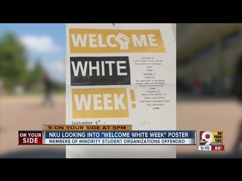 Northern Kentucky University looking into 'Welcome White Week' poster