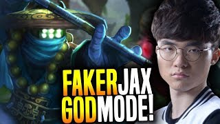 Faker in GOD Mode with Jax! - SKT T1 Faker SoloQ Playing Jax Top! | SKT T1 Replays