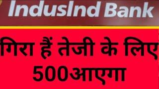 Indusind Bank Share News today||गिरा है तेजी केलिए 500आएगा||INDUSIND BANK SHARE PREDICTION||