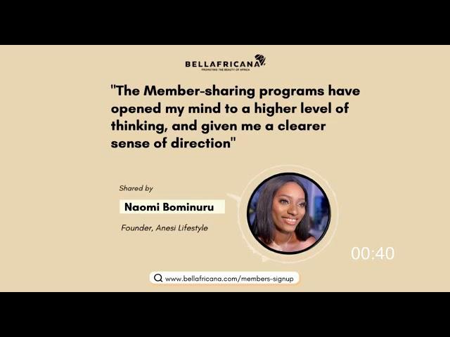 Bellafricana Testimonial: Naomi Bominuru