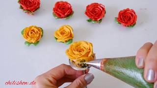 hướng dẫn bắt hoa hồng từ kem bơ đẹp và dễ