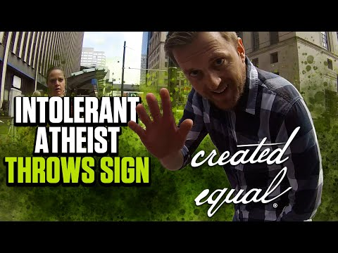 Atheist Lies About Trashing Pro-Life Signs