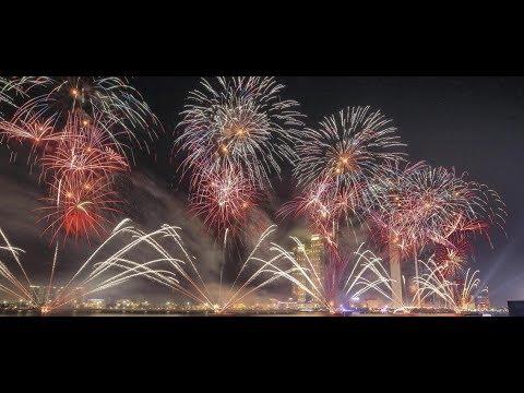 UAE New Year's  2018 Fireworks in Abu Dhabi