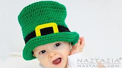 DIY Tutorial Irish Crochet Top Hat Baby Child Adult - St Patrick's Leprechaun | Pilgrim | Mad Hatter