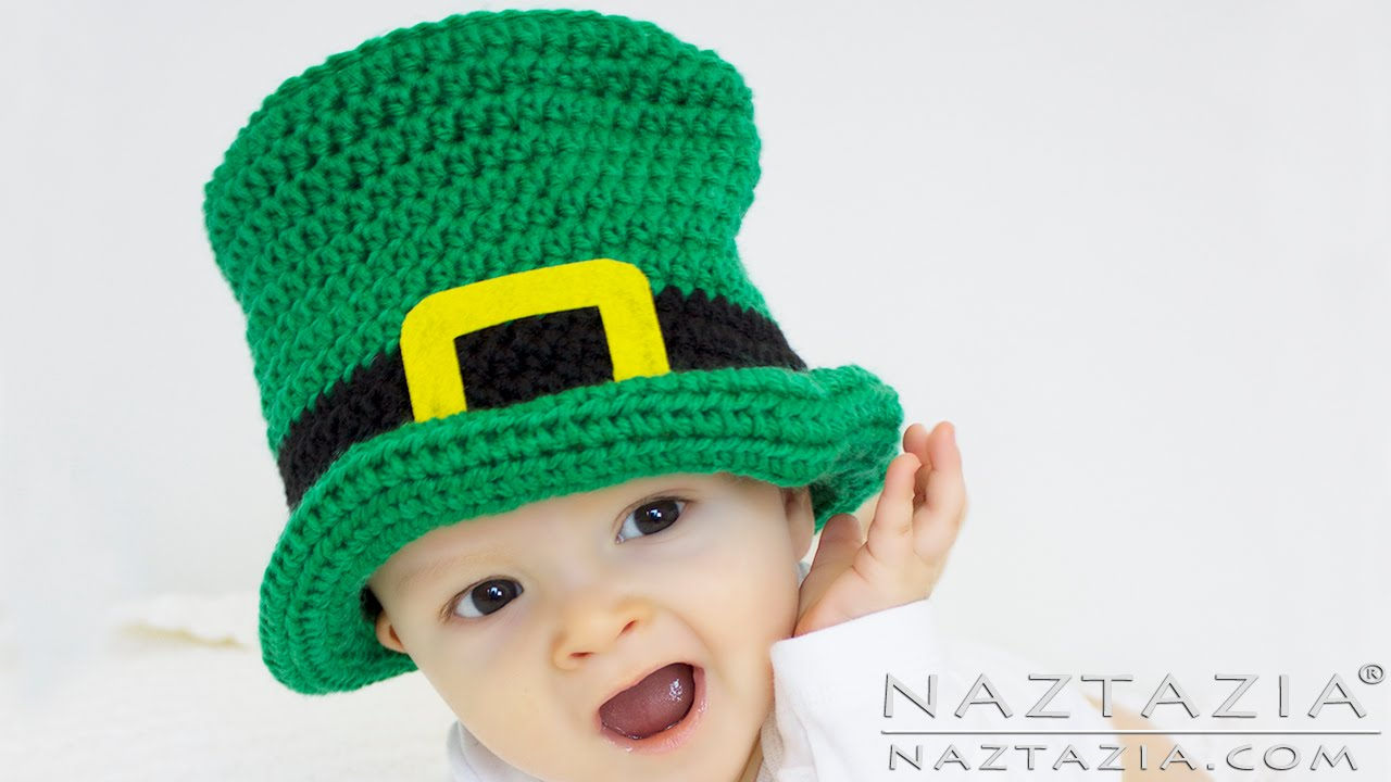 DIY Tutorial Irish Crochet Top Hat Baby Child Adult - St Patrick s  Leprechaun  8f5e57dafce