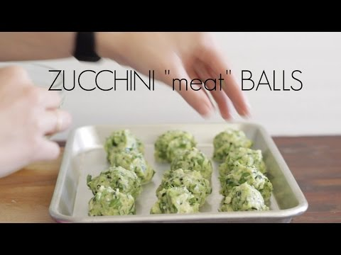 "Zucchini ""meat"" Balls"