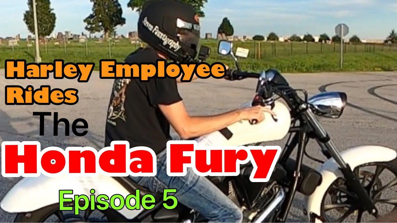 Happy Fury Friday! Harley Employee Rides a Honda Fury!