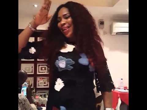 Faithia Balogun in a special dance step at her birthday
