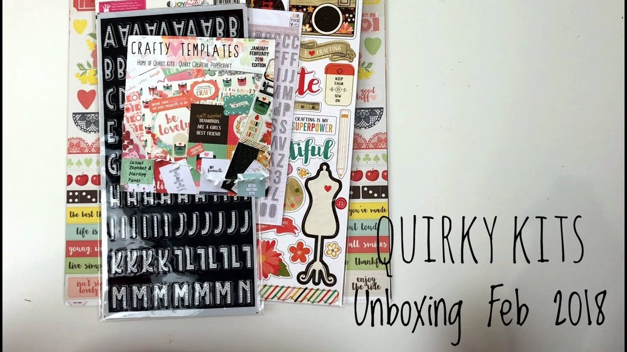 Quirky Kit by Crafty Templates Unboxing | UK Scrapbooking Kit Club ...