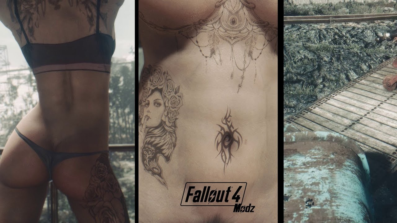 Fallout 4 modz #65: LooksMenu Body Tattoos │ Nezzar's Sexy Outfits & 2K  Trailer Flatbed
