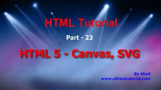 HTML Tutorial for beginners 23 - HTML 5 Canvas and SVG