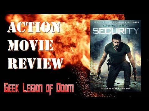 SECURITY ( 2017 Antonio Banderas ) Die Hard style Action Movie Review