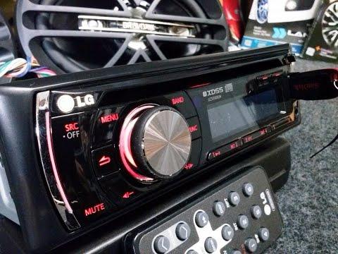 Radio Usb Cd Mp3 Automotivo Lg 96 Watts 4 Rca Sub dual led iluminação modelo LCS500UN