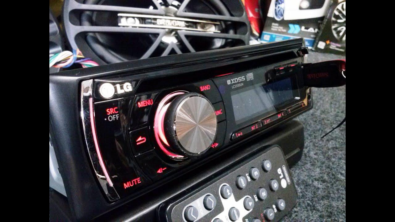 Radio Usb Cd Mp3 Automotivo Lg 96 Watts 4 Rca Sub dual led ...