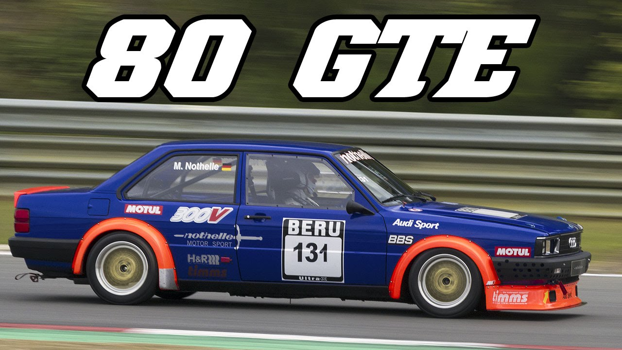 1985 Audi 80 Gte Nothelle Youngtimer Cup Zolder 2014