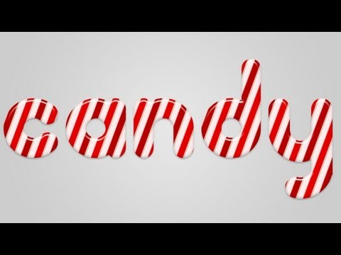 Christmas Candy Cane Text Effect in Photoshop   - YouTube