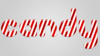 Christmas Candy Cane Text Effect in Photoshop | IceflowStudios