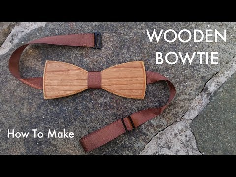 How to make A Wooden Bowtie (another design) // Woodworking // My Cellar Workshop
