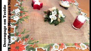 Decoupage em Tecido – DIY Toalha de Mesa para Natal
