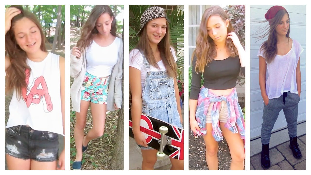 Nice Back To School: 5 Outfit Ideas For Teens!   YouTube