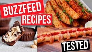 POPULAR BUZZFEED FOOD RECIPES TESTED!