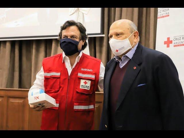 El gobernador Sáenz recibió 200 termómetros corporales infrarrojos donados por la Cruz Roja