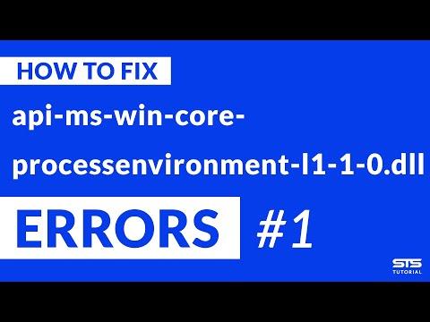api-ms-win-core-processenvironment-l1-1-0.dll Missing Error   Windows   2020   Fix #1
