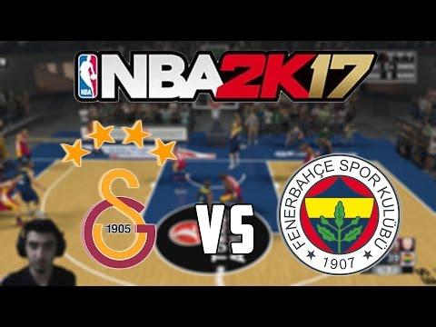 Fenerbahçe vs Galatasaray | NBA 2K17 (PS4) | Son Saniye Heyecanı !