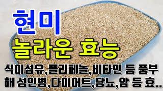 [# 현미효과]  현미의 놀라운 효능 10가지 (식이섬…