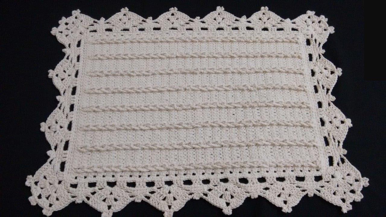 Muitas vezes Tapete Com Tranças em Crochê por Wilma Crochê - YouTube BW38