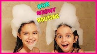 Gambar cover NIGHT ROUTINE - Emily and Evelyn's School Evening and Bedtime Routine - TwoSistersToyStyle