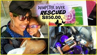 Dumpster Diver Rescued $850.00 From Going Into The Landfills