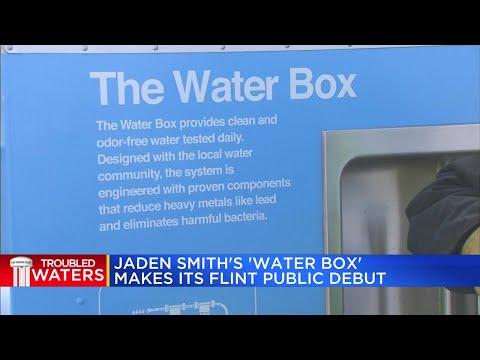 Jaden Smith's Water Box makes its Flint public debut
