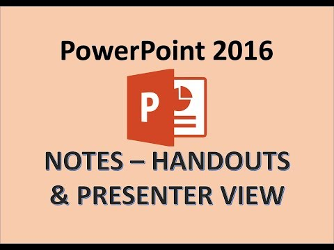 PowerPoint 2016 - Add Notes to Slides
