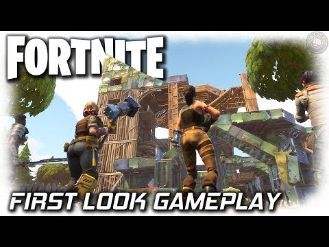 Fortnite PC Gameplay   First Look   Fortnite Gameplay Let's Play