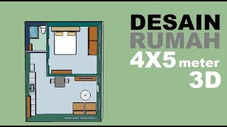 Narrow Land Can Still Build Houses 4x5 Meter 3d House Design Youtube